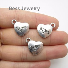 Buy 30pcs (18*18mm) Antique Silver Love Mom Charm fit pandora style Bracelets Necklace Pendant DIY Metal Jewelry Making for $3.92 in AliExpress store