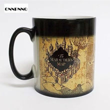 Drop Shipping Creative Porcelain Mug Caneca The Walking Dead Magic Mug Game Of Thrones Potter Mugs Color Changing Heat Sensitive(China)
