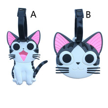 Cartoon Chi's Sweet Home Suitcase Luggage Tag Lovely Cat ID Address Holder Baggage Label Silica Gel Identify Travel Accessories