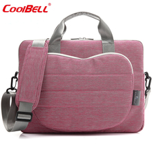 Cool Bell 2016 New 12.4/13.3/15.6 inch Notebook Computer Briefcase Men Women Laptop Shoulder Bag for Apple Macbook Air Pro 13