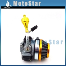 Gold Performance Racing Air Fuel Filter + Carburetor For 2 Stroke 49cc 50cc 60cc 66cc 80cc Gas Motorized Bicycle Push Bike