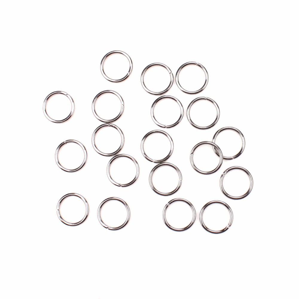 200pcs/lot 4/5/6/7/8/9/10mm stainless steel Jump Rings & Split Ring Loops Open Jump Rings Jewelry Findings Making