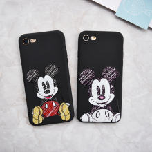 Luxury Brand Cartoon Stitch Mickey Minions coffee soft Case For iphone 5/5s SE 6 6s plus 7 7 Plus phone cover Capa funda coque