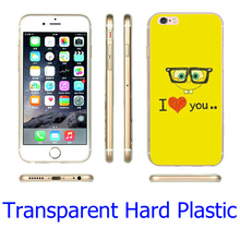 SpongeBob Square Pants Love Transparent Phone Case for iPhone 5S 5 SE 5C 4 4S 6 6S 7 Plus Cover ( Soft TPU / Hard Plastic )