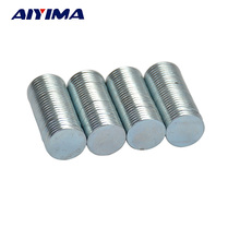 AIYIMA 100pcs 10mm*1mm Disc Round Magnets Rare Earth Neodymium Magnet 10*1mm NdFeB Magnetic Tape Art Craft Magnetite 10x1