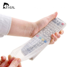 FHEAL Silicone TV Remote Control Protective Bag Air Condition Remote Control Case Dust Protective Holder Waterproof Storage Bag(China)