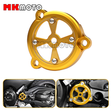 Gold Color Aluminum Motorcycle Accessories CNC Front Drive Shaft Cover Guard For YAMAHA Tmax  2012-2015
