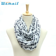 Womail Newly Design 1pc Women's Fashion O Ring Scarves Tree Branches Of Birds Animal Scarf 161017 Drop Shipping