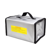 JMT 215x155x115mm Fireproof RC LiPo Battery Portable Explosion-Proof Safety Bag Safe Guard Charge Sack With Handle F20874(China)