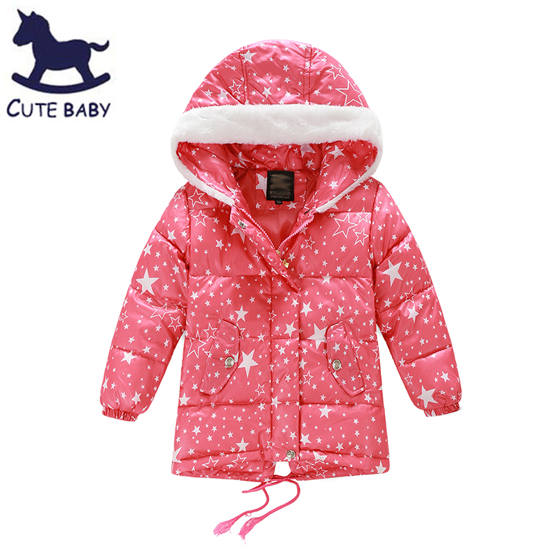 Girls Parkas Winter jacket for girl Kids Outerwear Childrens coat Down Jackets for baby girls Clothing for girls 6-8yearsОдежда и ак�е��уары<br><br><br>Aliexpress