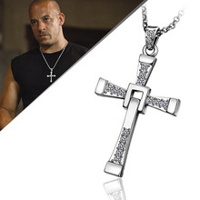 Mens 65cm chains Golden Cross pendant necklaces Colar de Ouro snake n705 For Holiday Gift(China)