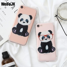 WeiFaJK Queen Panda Flower Case for Apple iPhone 7 8 Plus Cases TPU Silicone Soft Back Cover for iPhon 5 5s 6 6s Plus Phone Bags(China)