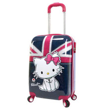 "KUNDUI ABS+PC 12 20""British lovers luggage case rolling suitcase bags draw bar box women travel case Girls trolley bag bolsos(China)"