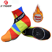 X-TIGER Thermal Abstract Cycling Shoe Cover Winter Sport MTB Mans Bike Shoes Covers 2016 Bicycle Overshoes Cubre Ciclismo M L XL