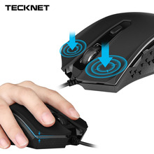 TeckNet Wired Gaming Mouse 6 Buttons 800/1200/1600/2400DPI Mode Optical USB Computer Mice Gamer for PC Laptop Desktop Dota LOL(China)