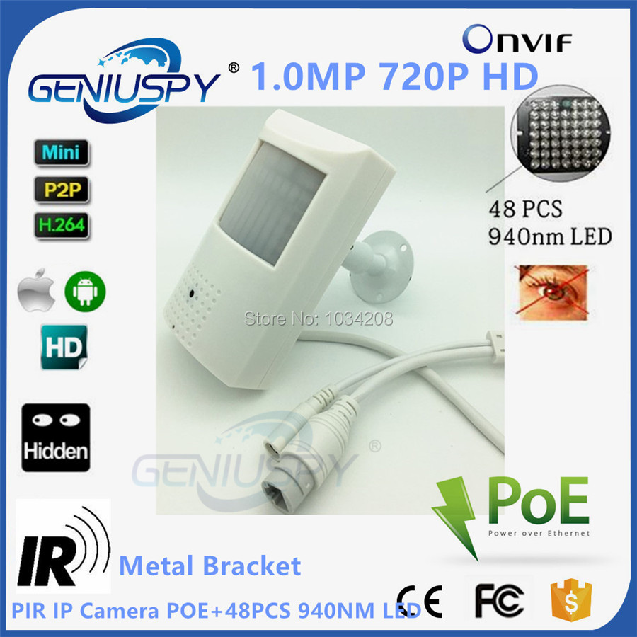 1.0MP 720P Poe IP Camera Night Vision 940nm Infrared Kamera IR POE PIR Style Motion Detector ONVIF IR led Mini IP Camera PoE<br>
