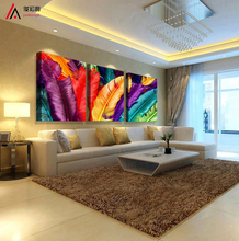3 Panel Modern Printed Feather Landscape Painting On Canvas Cuadros Home Decor Wall Pictures For Living Room No Frame PR199(China)