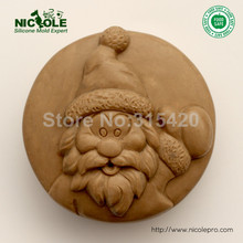 New Arrivals Flexible Easy Unmold Silicone Molds, Christmas Silicone Soap Molds,DIY Silicone Naturals Molds