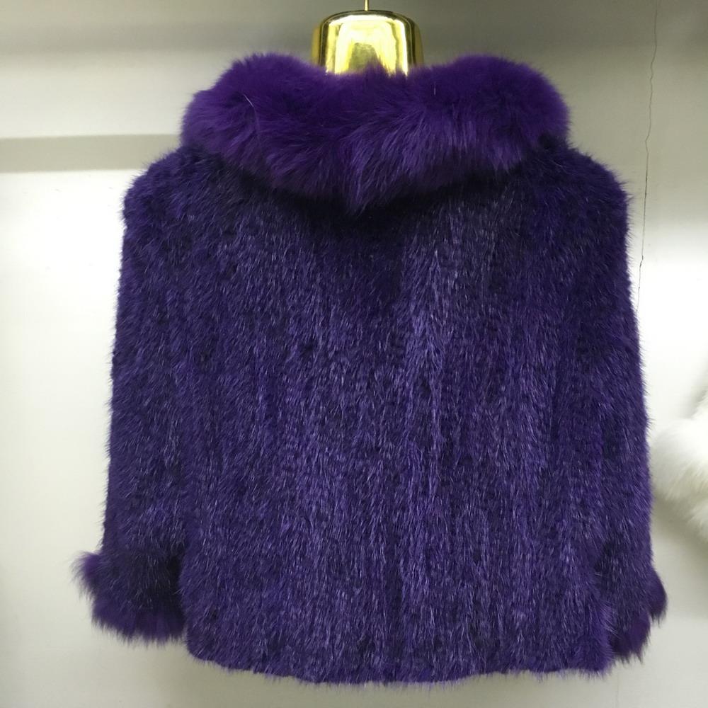 Luxury Mink Fur Shawl For Women Poncho Cape Knitted Genuine Fur Jacket Coat Female Winter Wraps Outerwear (7)