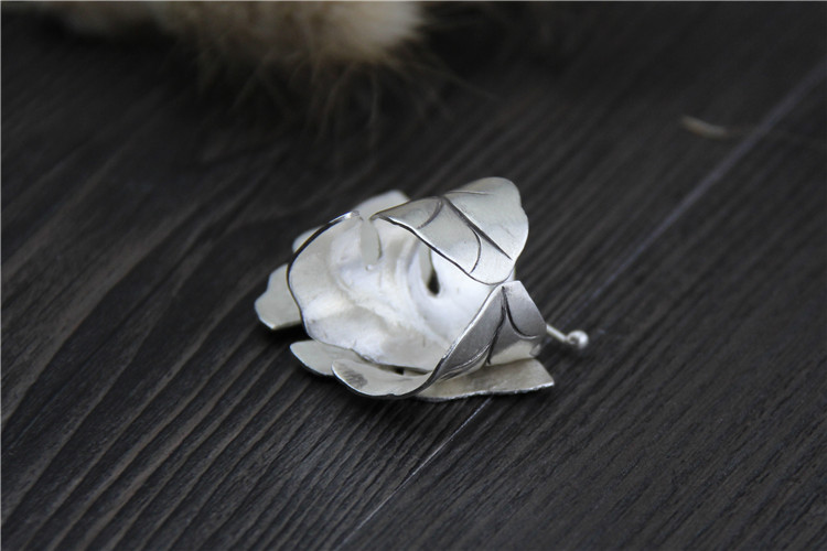 Soft Band on 999 Sterling Silver Large Butterfly Ring