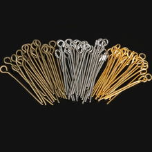 New Fashion 470pcs/lot 24mm Gold/Brown/Silver Eye Pins&Needles Metal Beads Findings For DIY Jewelry Making,Head Pins Needles