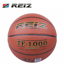REIZ Official Size 6 Synthetic Leather Rubber Basketball Sports Practice Indoor Outdoor Ball Game Training TF-1000 Free Ship(China)