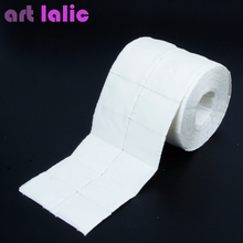 Artlalic Roll of Lint Free Nail Art Polish Acrylic Gel Remover Wipes / Paper Towel 500 Pcs Cleaning Cotton Pads white