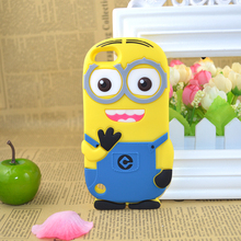 For iPod Touch 6 6th 6G iPod Touch 5 5th 5G iTouch 5 6 Cute 3D Cartoon DESPICABLE ME 2 Yellow Minions Soft Silicone Case Cover