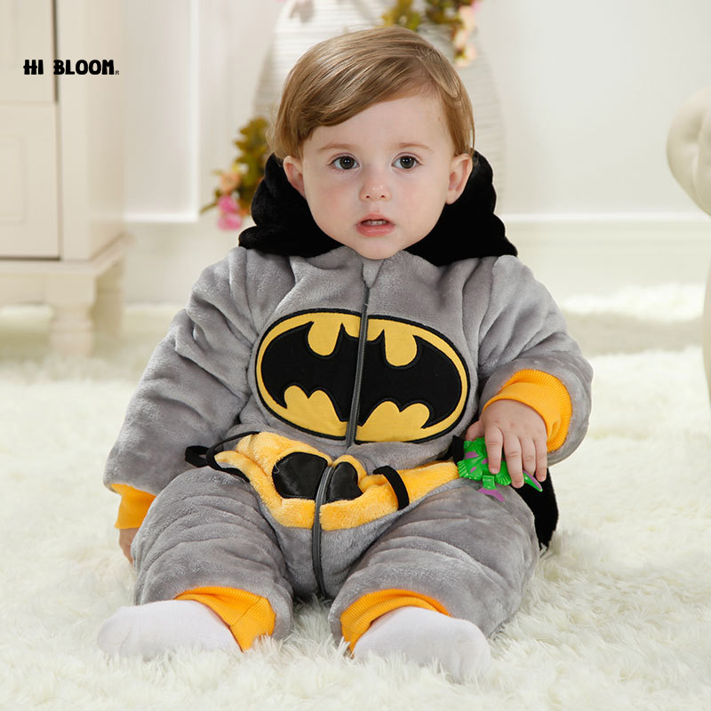 Promotion Price New Thicken Winter Newborn Unisex Animal Style Cotton Soft Jumpsuit Children Outerwear Baby Warm Hooded Rompers<br>