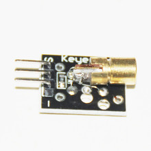 10pcs Laser Sensor Switch 650nm 5MW RED Dot Laser Sensors Transducer DIY Kit 6mm 5V Module Board Diode Copper Head for Arduino(China)