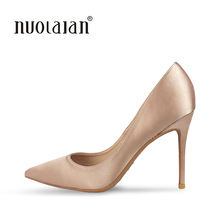 Buy 2018 NEW ARRIVE Women Pumps Pointed Toe Thin High Heels Women Shoes Party Wedding Shoes Woman Sexy Ladies Shoes 10cm for $36.30 in AliExpress store