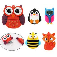 Fashion Owl usb Penguin/Fox/Bee usb flash drive pendrive cle usb stick 64gb 32 gb pen drive 4gb 8gb16gb flash drive memory stick