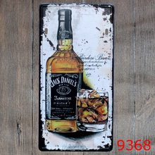 Vintage Signs Retro Metal Jack  Liquor Vintage Metal Tin Sign Plate Sign Wall Decoration for Cafe Home and Restaurant
