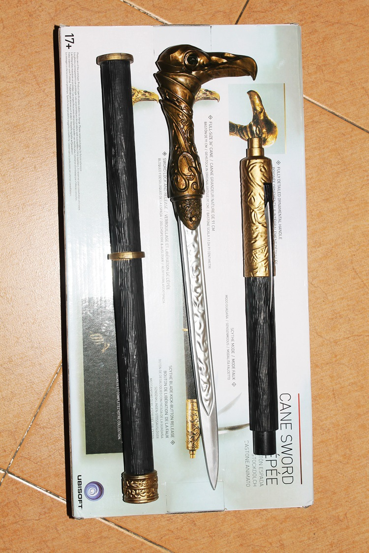 1/1 Assassins Creed Syndicate Sword Cane Cosplay Weapon Jacob Frye Cane Hidden Blade PVC Action Figure Model Toy Collectibles<br>