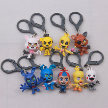 Five Nights At Freddy's Juguetes 4 FNAF Foxy Chica Bonnie Freddy Action Figures Game Kid Toy Doll keychain for gifts children
