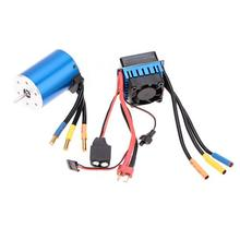 Free Shipping 3650 3100KV 4Poles sensorless brushless electric motor with 60A brushless ESC fit for 1/10 RC Car