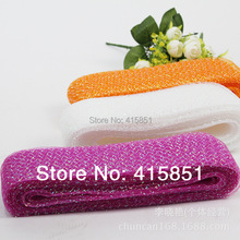 Free Shipping 7cm  Diamond Horse Hair Crin Braids With Cotton Fascinator Mesh Fabric 100 yard/lot
