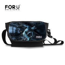 FORUDESIGNS Stylish Crossbody Bags for Men Spider Silk Printing Casual Bag Large Shoulder bags Travel Message bags High Quality