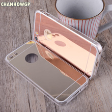 Fashion Design Soft Silicone Mirror Case for iPhone 4 4S 5 5s SE 5se 6 6s Plus 7 7Plus 8 8Plus X Full Body Coverage Capa fundas