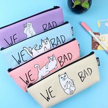 (1pcs/sell) canvas funny cat Womens Travel Cosmetic Bags High Quality Makeup Bag Make Up Bag Neceser Luxury Brand Famous Brands
