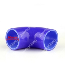 Areyourshop Universal Elbow 90 Degree 90mm 80mm Vacuum Silicone Hose Tube Coupler Intercooler Turbo Water Air Pipe Connection(China)