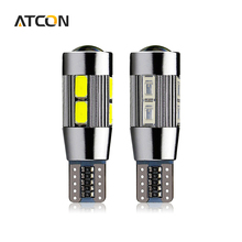 1X Aluminum Body High Power HID COB T10 Auto Car LED Bulb lamp W5W 194 192 158 168 921 CANBUS Parking Fog Interior Car light