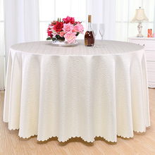 Luxurious Hotel Round Table Cover Rectangle Tablecloths Hotel Wedding Tablecloth Machine Washable Fabric Grey World Table Cloth(China)