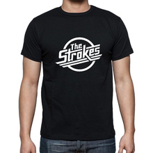 Casual Fashion Short Sleeve O Neck T-shirt Tshirts THE STROKES Indie Music Rock Punk Band T Shirts Men