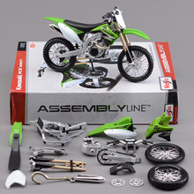 KWSK KX450F Off-Road Motorcycle Model Kit 1:12 scale metal diecast models motor bike miniature race Toy For Gift Collection