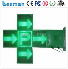 Leeman alibaba express new technology product p20 outdoor green 48*48 double side outdoor led pharmacy cross display controller
