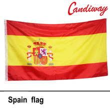 90 x 150cm The Spanish international national flag the Spanish flag polyester polyester printed big flag NN017(China)