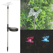 HGhomeart Solar butterfly dragonfly bird garden outdoor decoration LED lights villa landscape lights Decoration Lights(China)