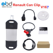 2017 Newest Renault Can Clip Scanner V167 Auto Renault Scanner Interface With High Quality Renault Clip Support Multi-Language