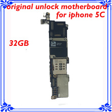 32GB 100% original motherboard for iphone 5C unlocked mainboard IOS system logic board good working main plate for Apple 5C(China)